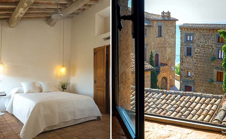 Casa Civita — Bedroom and view