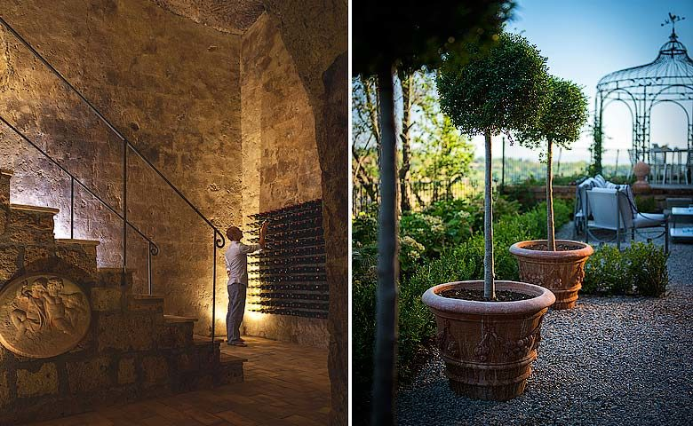 Casa Civita — Wine cellar and garden