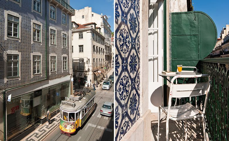 Baixa House — Facade and balcony