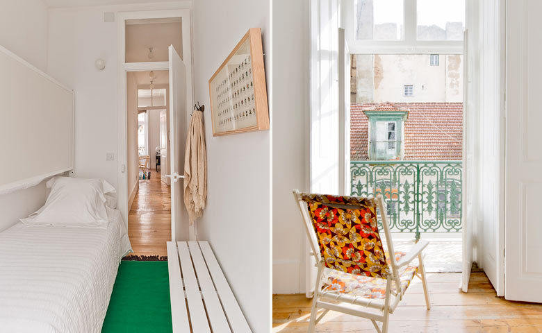 Baixa House — Kids room and balcony view