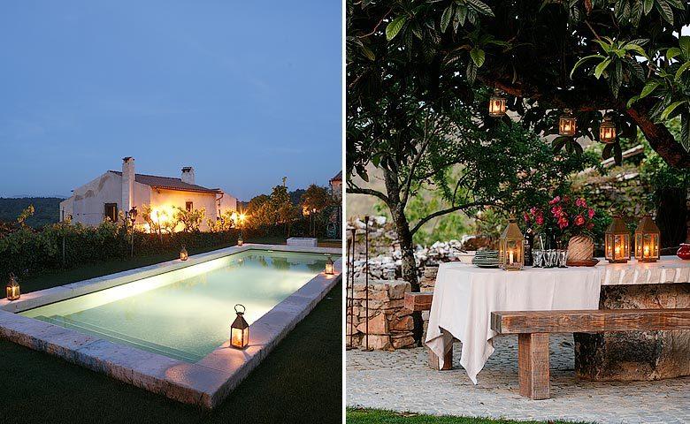 Villa Pedra — Pool and garden