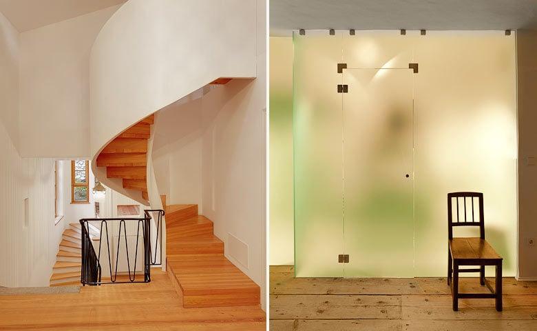 Ottmanngut — Hotel staircase and bathroom
