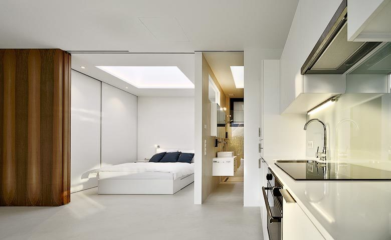 Mirror Houses — Kitchen and bedroom