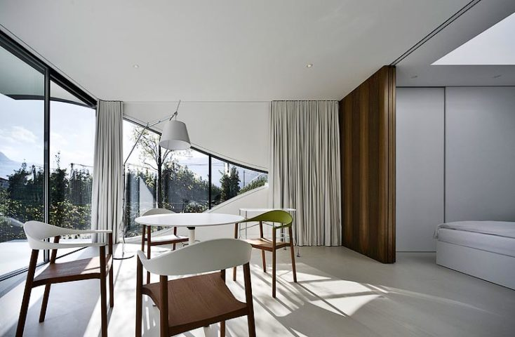 Mirror Houses — Living area and bedroom