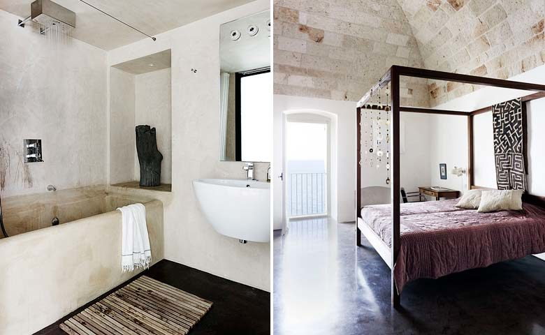 Cliff House — Bedroom and bathroom