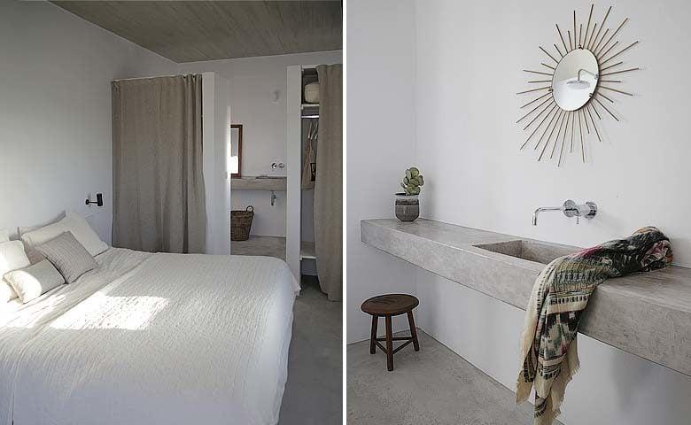 Paros Villa — Bedroom and bathroom