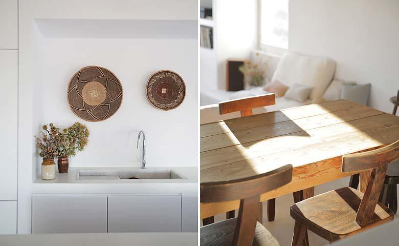 Paros Villa — Kitchen and dining area