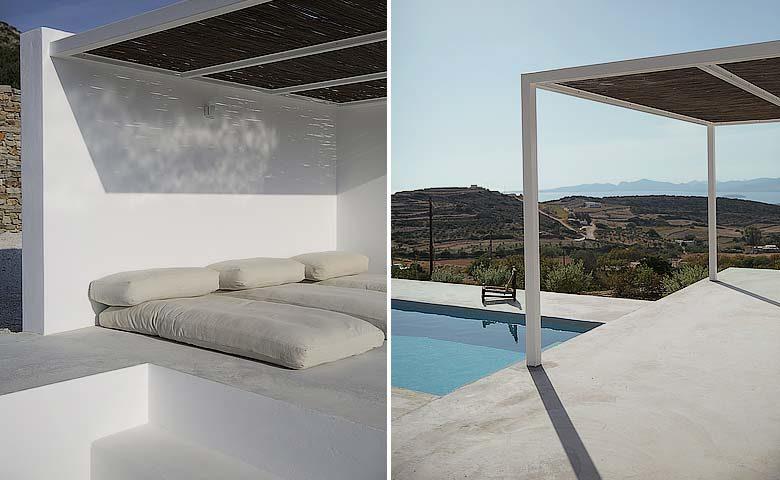 Paros Villa — Pool area