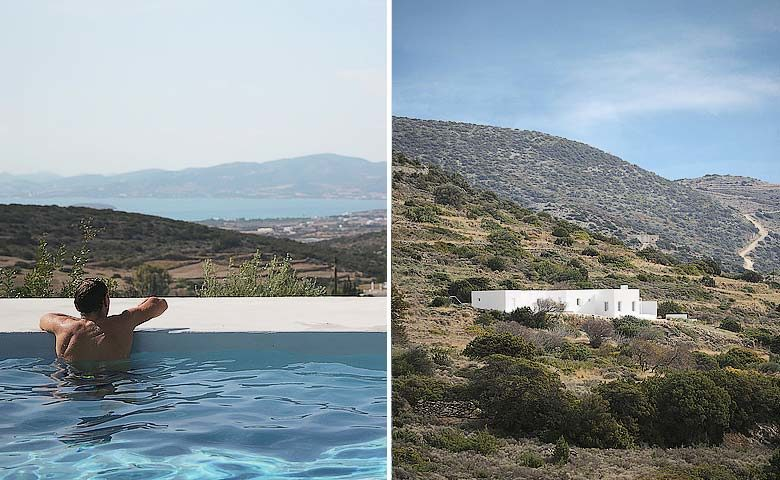 Paros Villa — View from the pool