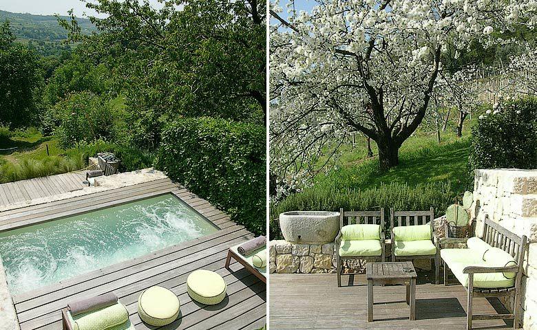 Pianaura Suites — Plunge pool area