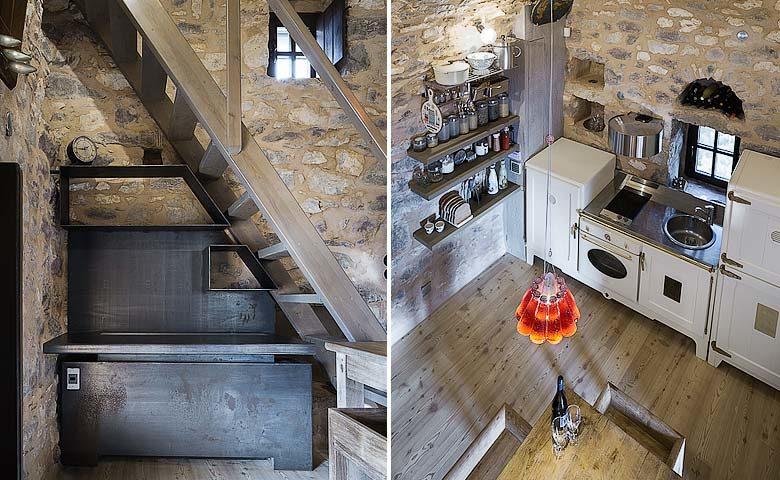Tainaron Blue Retreat — Kitchen and reception area