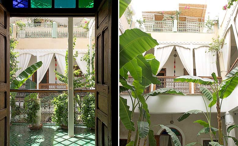 Chambres d'Amis — Courtyard and rooms
