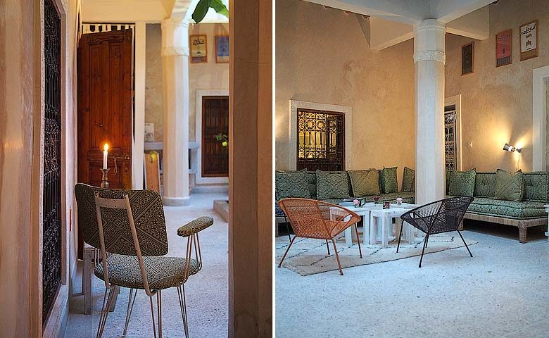 Chambres d'Amis — Courtyard of the riad