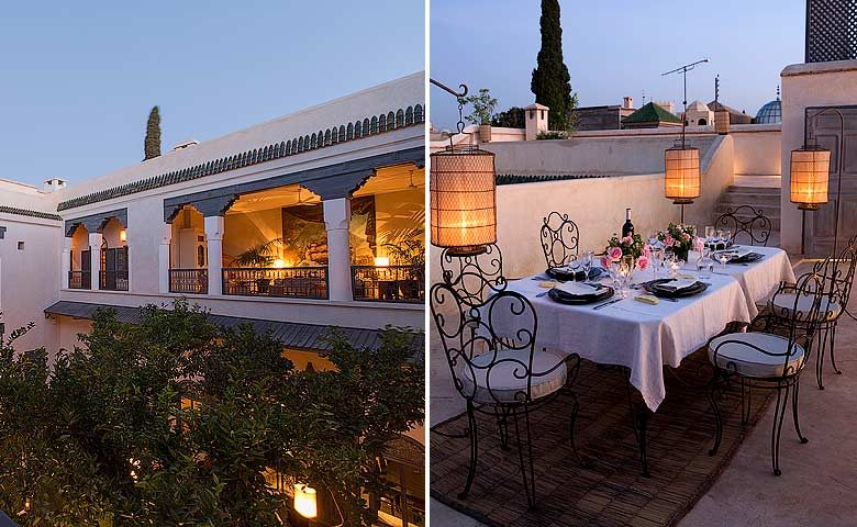 Riad de Tarabel — Roof terrace and open lounge