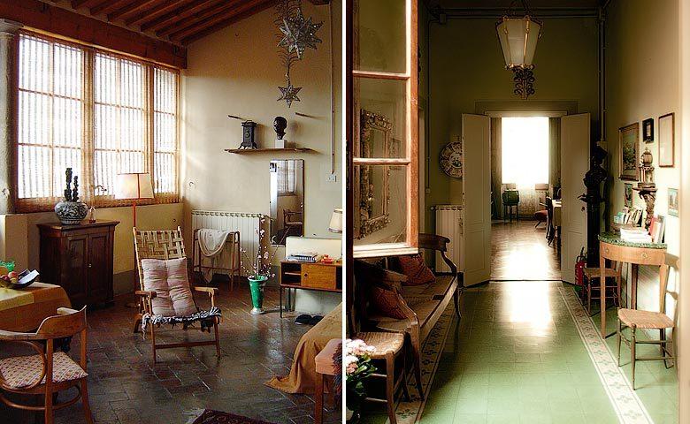 Le Tre Stanze — Mansarda Suite and hallway
