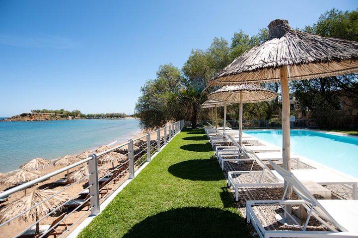 Ammos Hotel — Ammos Hotel pool and beach