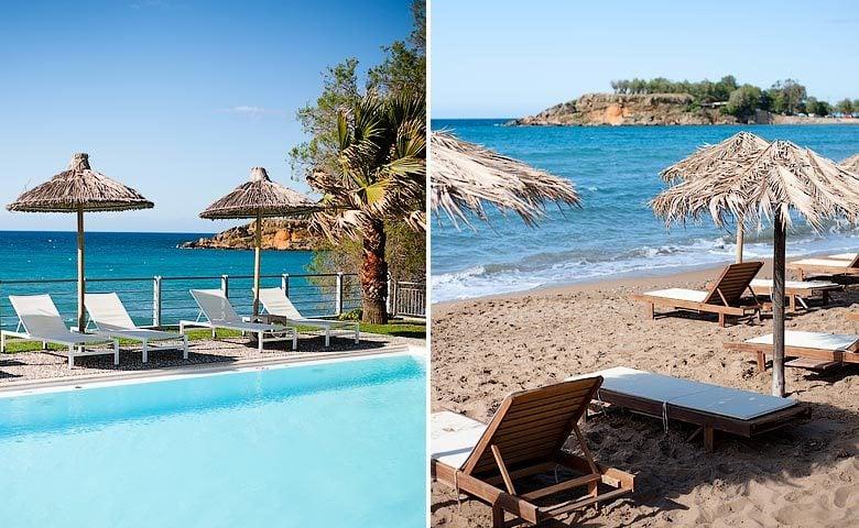 Ammos Hotel — Pool and beach