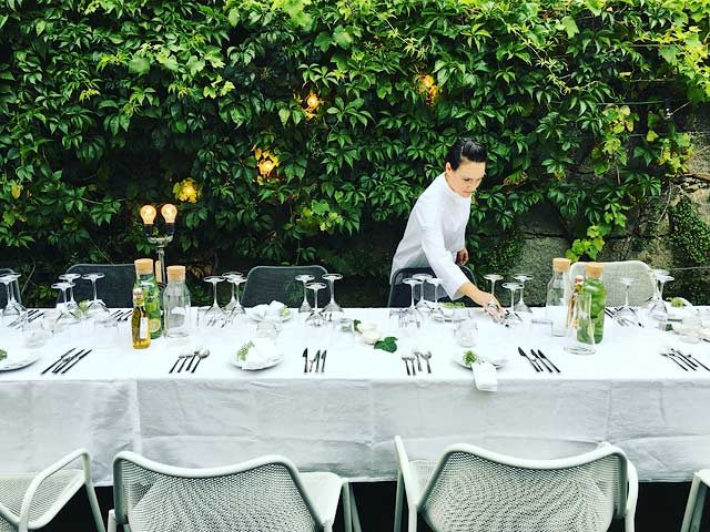 Porto Suites — Outside dining