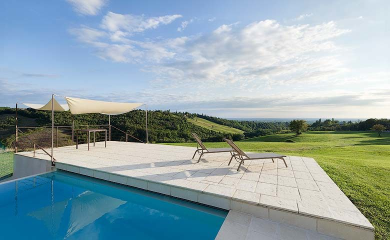 Villa di Parma — View from the pool