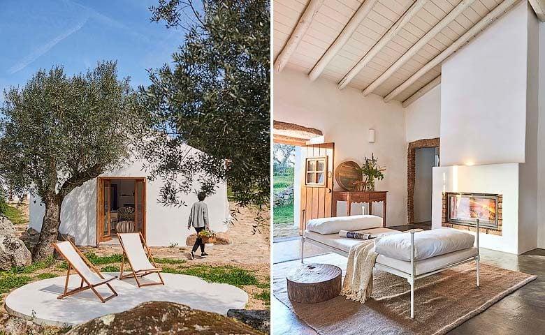 Casas Caiadas — Social house patio and living area