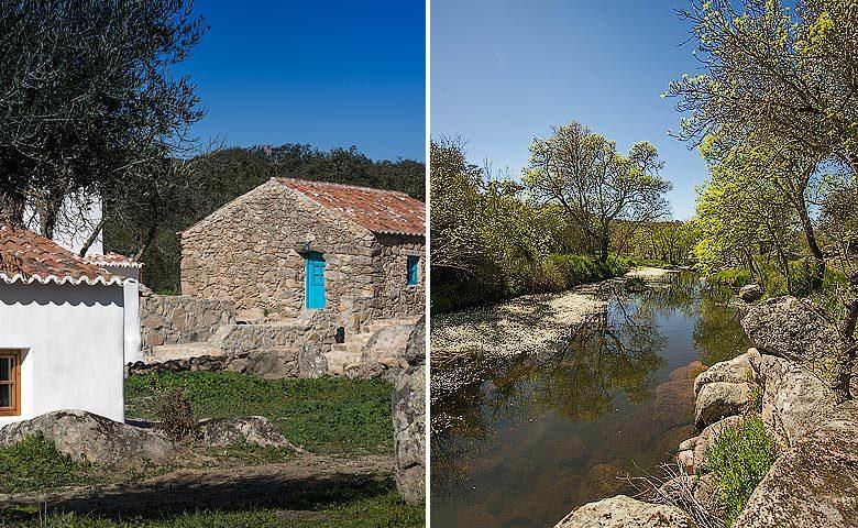 Casas Caiadas — Stone house and area