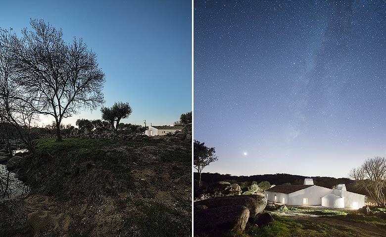 Casas Caiadas — Casas Caiadas at night