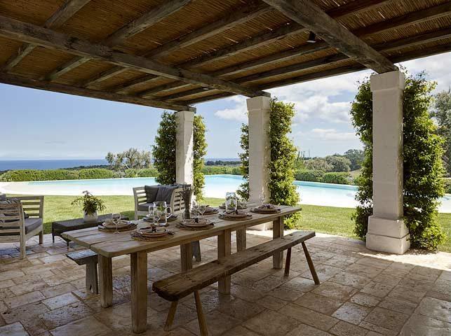 Masseria Petrarolo — Poolside kitchen