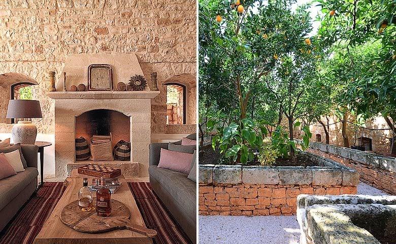 Masseria Petrarolo — Lounge and orange grove