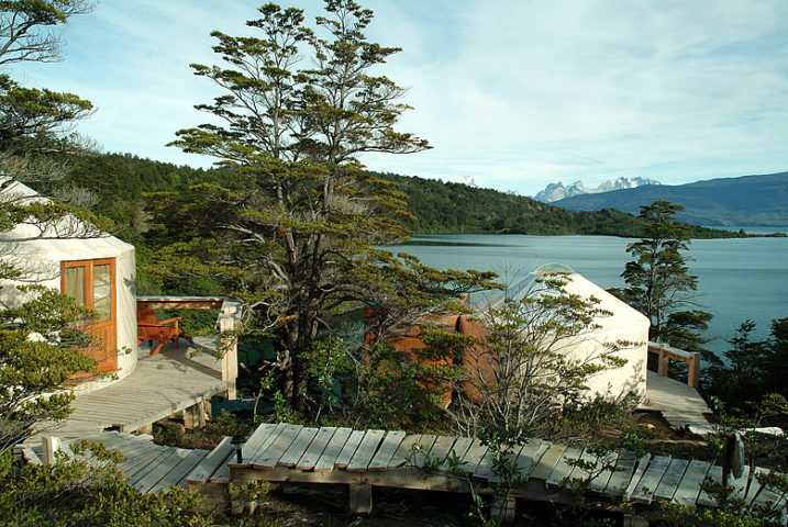 Patagonia Camp — View from a yurt