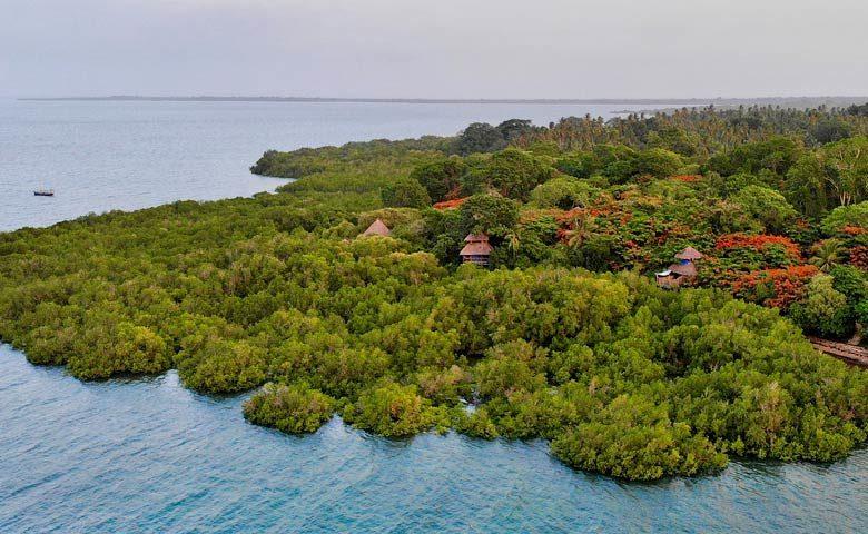 Chole Mjini — Location on Chole Island