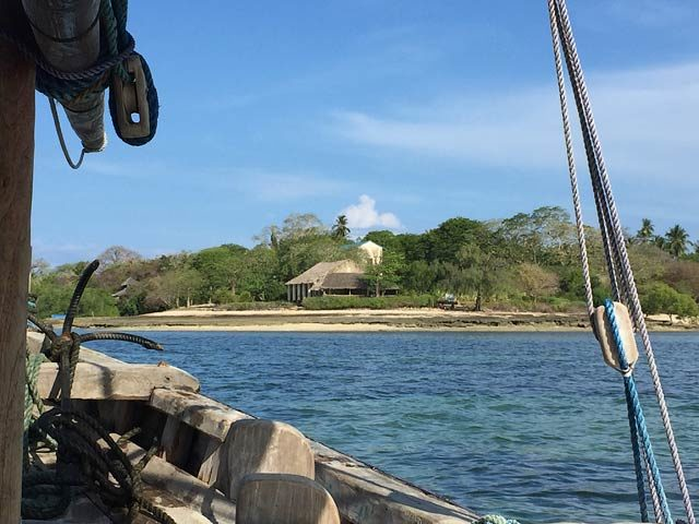 Chole Mjini — View from boat