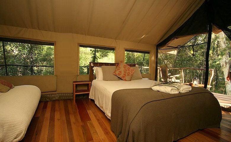 Paperbark Camp — Original Safari Tent sleeping area