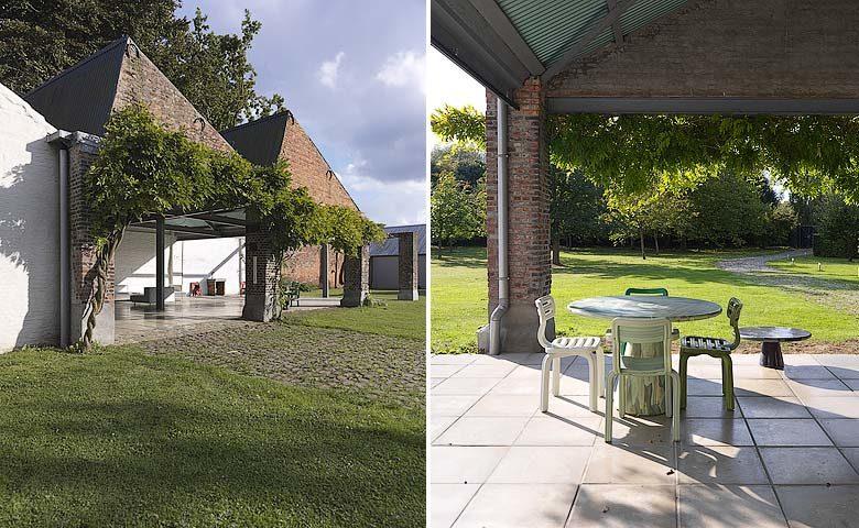 Tielrode — Terrace and garden