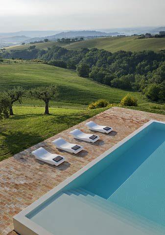 Le Marche Villa — Pool area