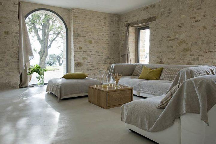 Le Marche Villa — Living area