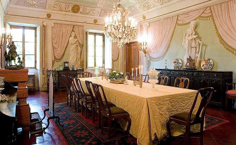 Chianti Villa — Villa dining area