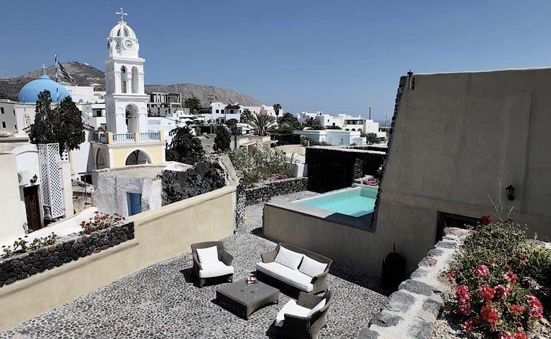 Villa Santorini II — Terrace and pool