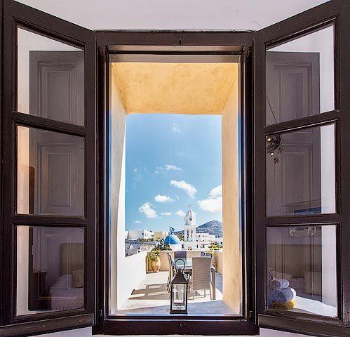 Villa Santorini II — View to terrace
