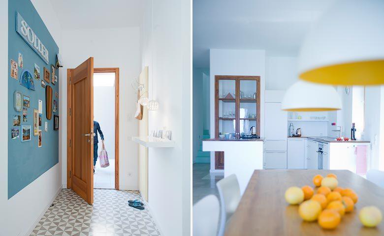 Mallorca Beach House — Entrance and kitchen area