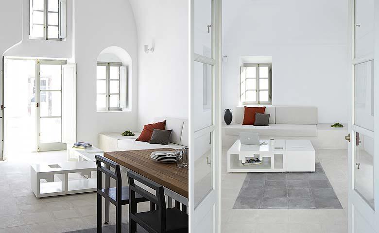 White Villa — Living areas