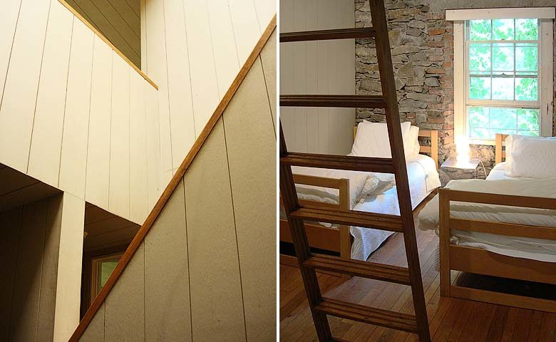 Hudson Valley Mill — Staircase and bedroom