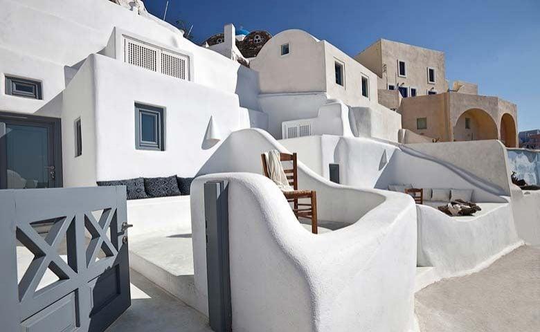 Oia Villa II — Oia Villa II terrace