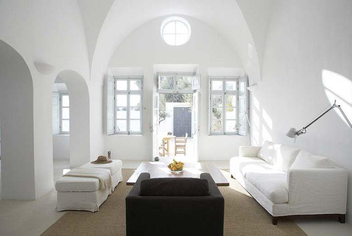 Imerovigli Villa — Lounge area