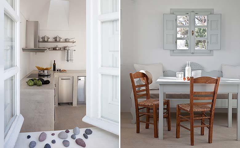 Imerovigli Villa — Kitchen
