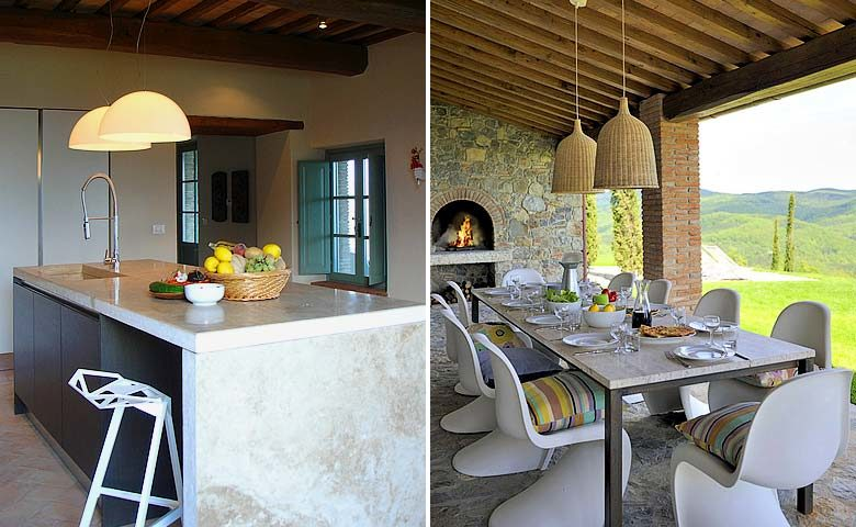 Podere Palazzo — Kitchen and outside dining