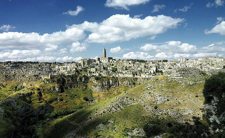 Sextantio Grotte della Civita — View of Matera