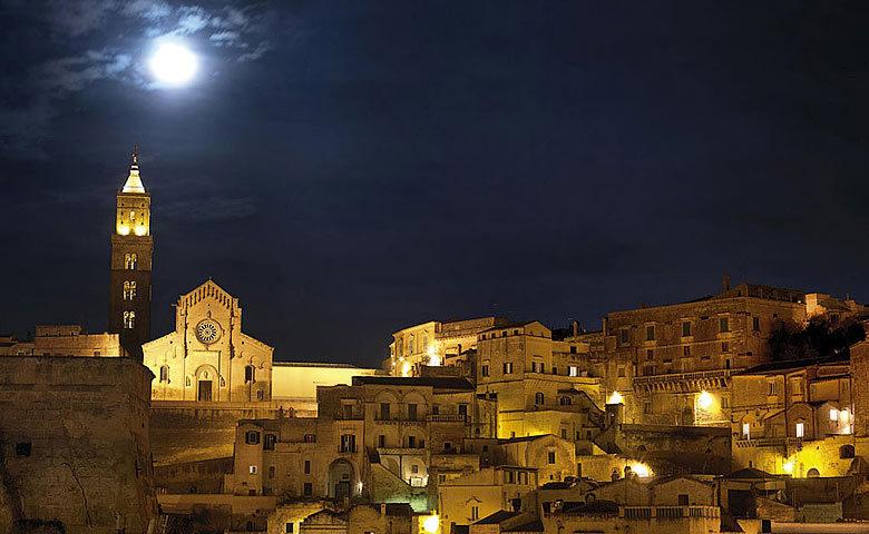 Sextantio Grotte della Civita — Matera at night