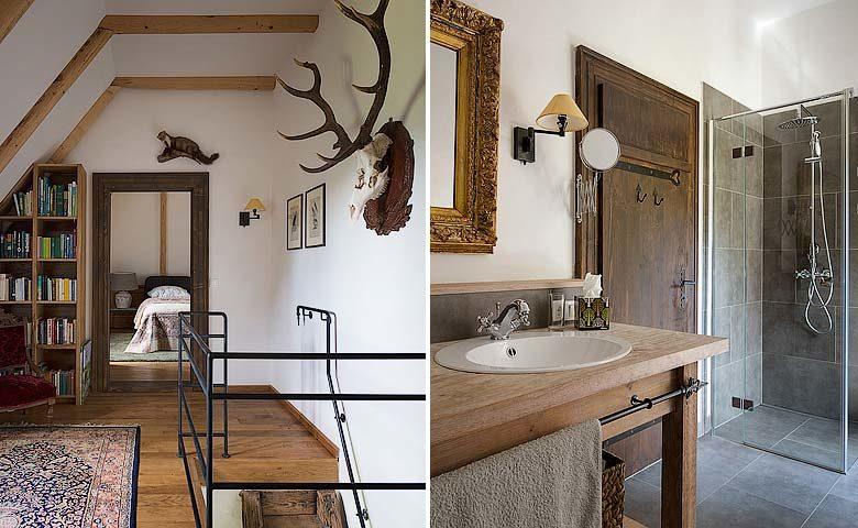 Palaga Lodge — Bedroom and bathroom