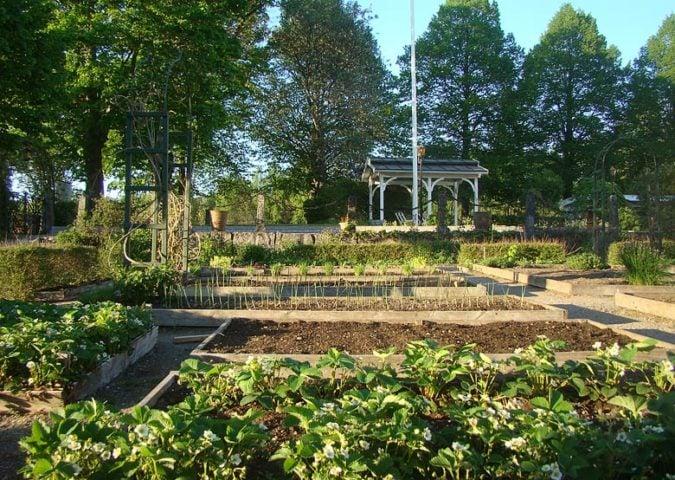 Småland Manor — Fruit and vegetable garden
