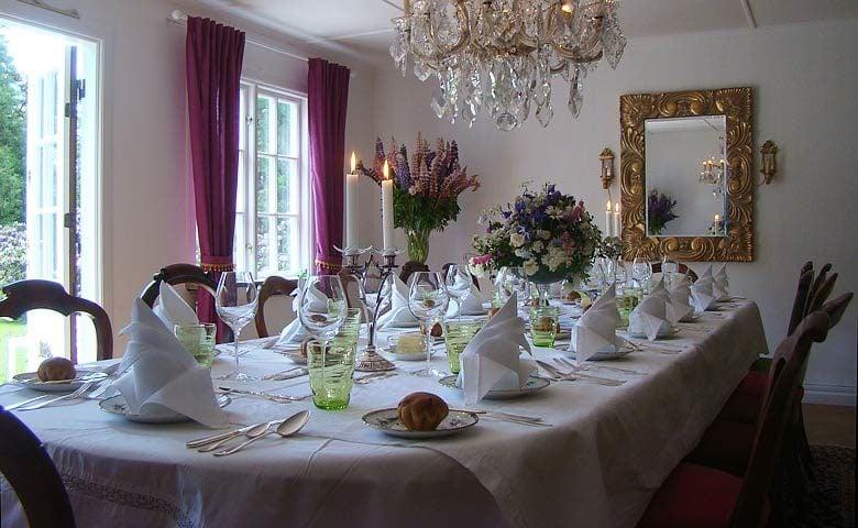 Småland Manor — Dinner area